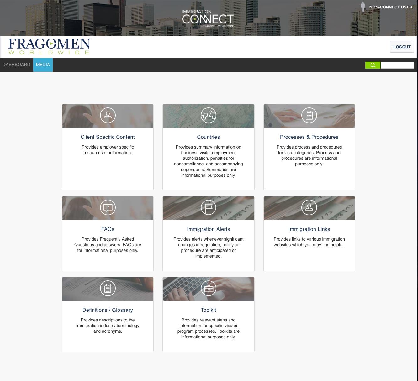Fragomen Connect Portal Dashboard